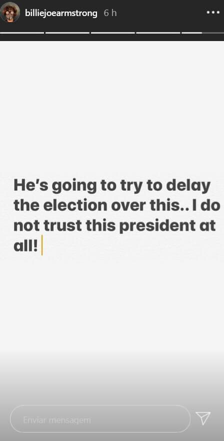 Billie Joe critica Donald Trump