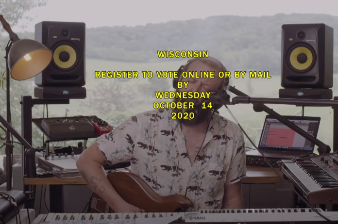 Bon Iver no The Late Show with Stephen Colbert