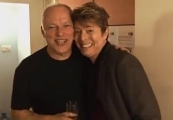 David Gilmour (Pink Floyd) e David Bowie