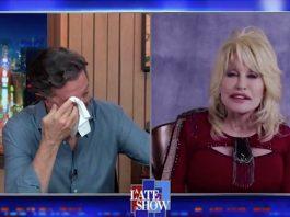 Dolly Parton no programa de Stephen Colbert