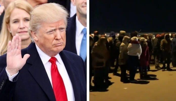 Confusão em comício de Donal Trump