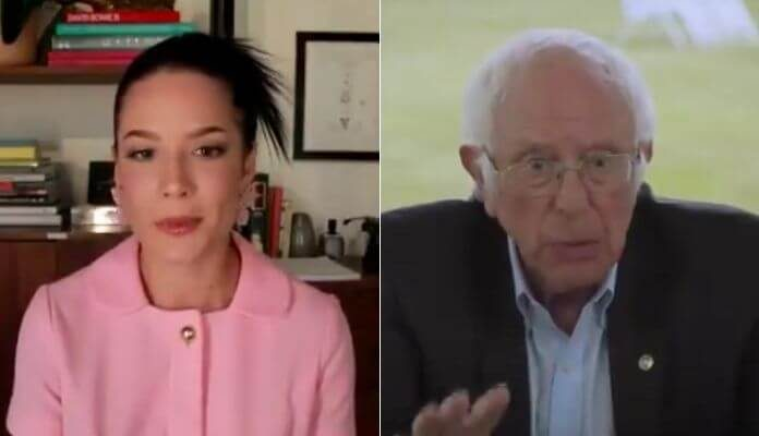 Halsey e Bernie Sanders