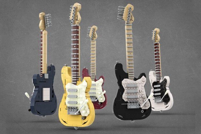 Guitarras Fender em LEGO