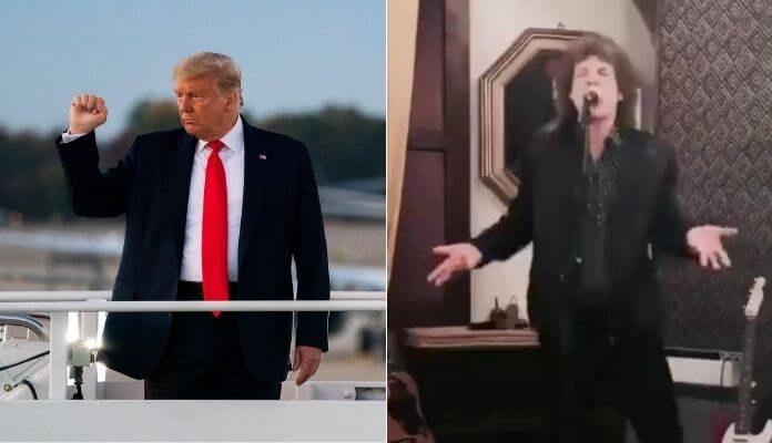 Donald Trump e Mick Jagger
