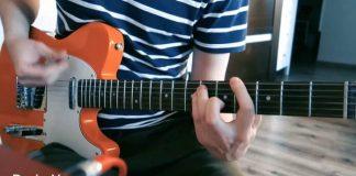 Guitarrista toca riffs do Nirvana