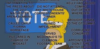Os Simpsons elencam 50 motivos para não votar em Donald Trump em Treehouse of Horror