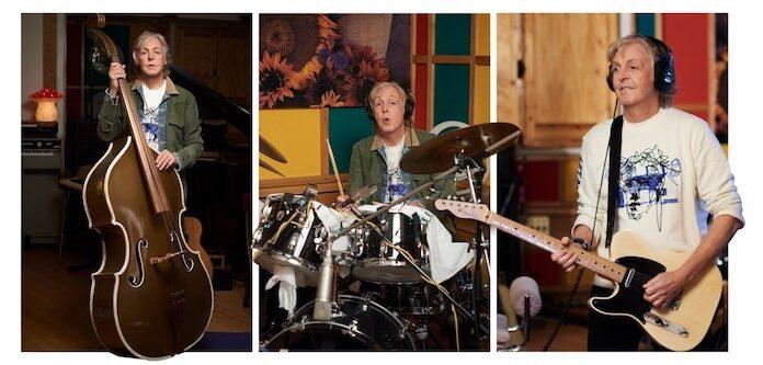 Paul McCartney gravando