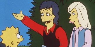 "Paul McCartney e Linda McCartney em ""Os Simpsons"""