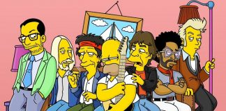 The Simpsons, Mick Jagger, Keith Richards, Tom Petty, Elvis Costello, Lenny Kravitz, and Brian Setzer