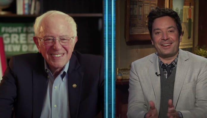 Bernie Sanders no programa de Jimmy Fallon