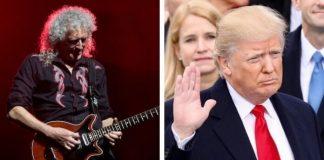 Brian May e Donald Trump