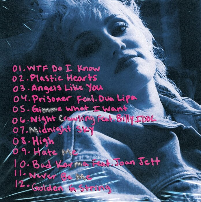 Miley Cyrus - Tracklist de Plastic Hearts