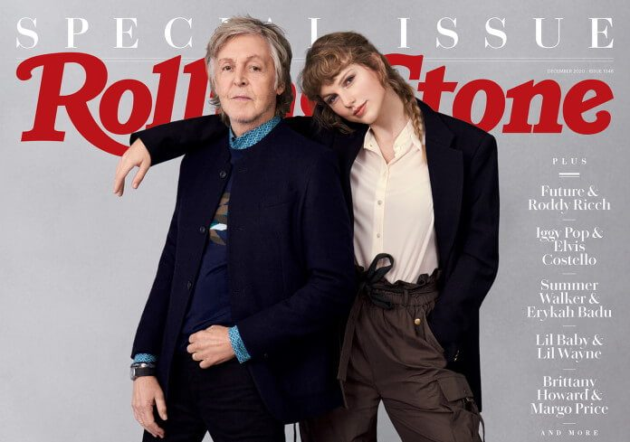 Rolling Stone com Paul McCartney e Taylor Swift