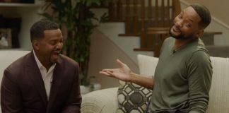 Alfonso Ribeiro e Will Smith em reunião de Fresh Prince