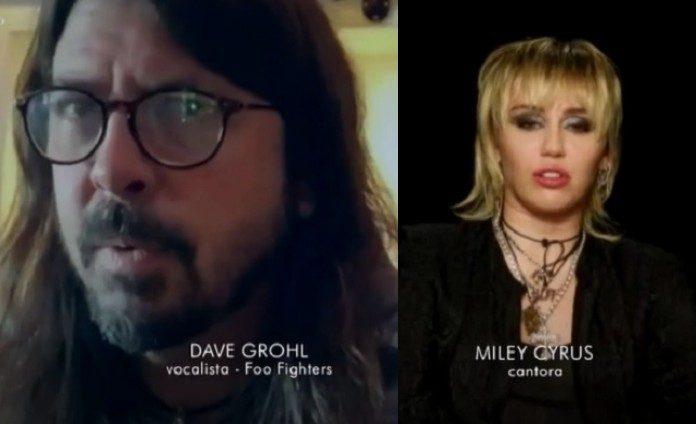 Dave Grohl e Miley Cyrus no Fantástico