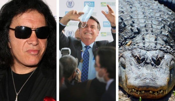 Gene Simmons, Bolsonaro e... jacaré