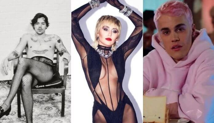 Harry Styles, Miley Cyrus e Justin Bieber