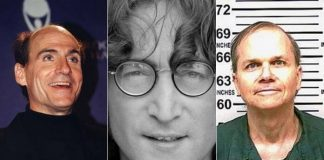 James Taylor, John Lennon e Mark David Chapman