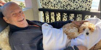 Jeff Bridges e seu cãozinho