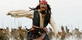 """Johnny Depp em """"Piratas do Caribe"""""""