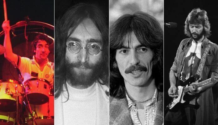 Keith Moon, John Lennon, George Harrison e Eric Clapton