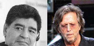 Eric Clapton tenta ajudar Maradona a se livrar das drogas