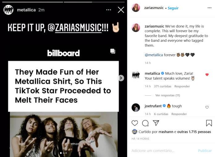 Metallica celebra Zaria