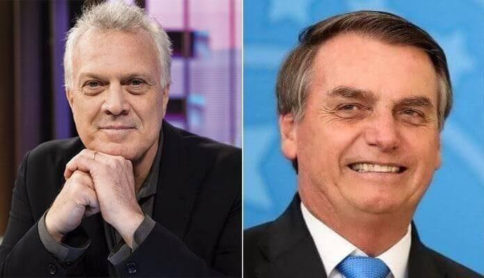Pedro Bial e Jair Bolsonaro