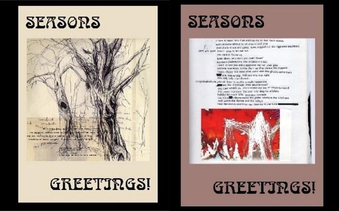 """Cartões de """"boas festas"""" do Radiohead"""