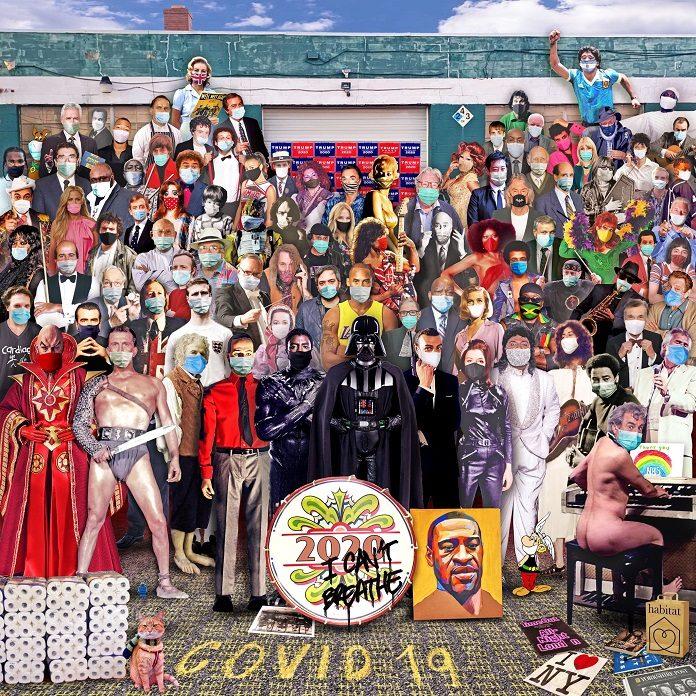 Artista recria capa de Sgt. Papper's com as personalidades que nos deixaram em 2020
