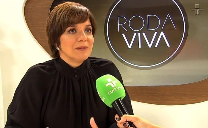 Vera Magalhães no Roda Viva, da TV Cultura