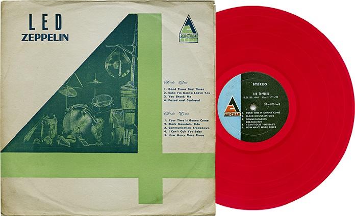Vinil do Led Zeppelin da coleção de Ross Halfin