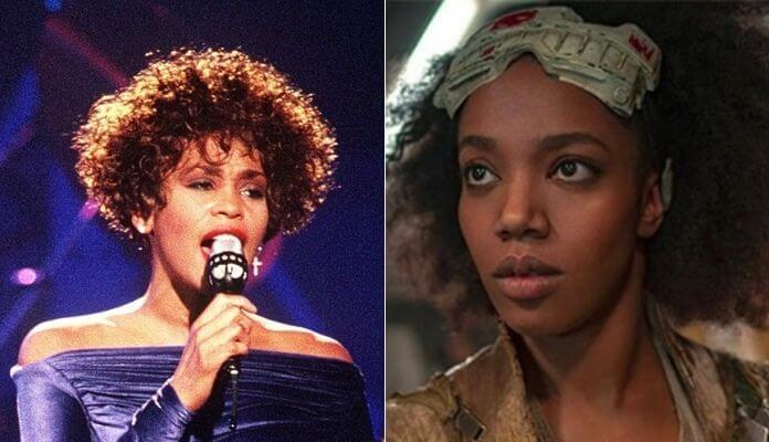 Whitney Houston e Naomi Ackie