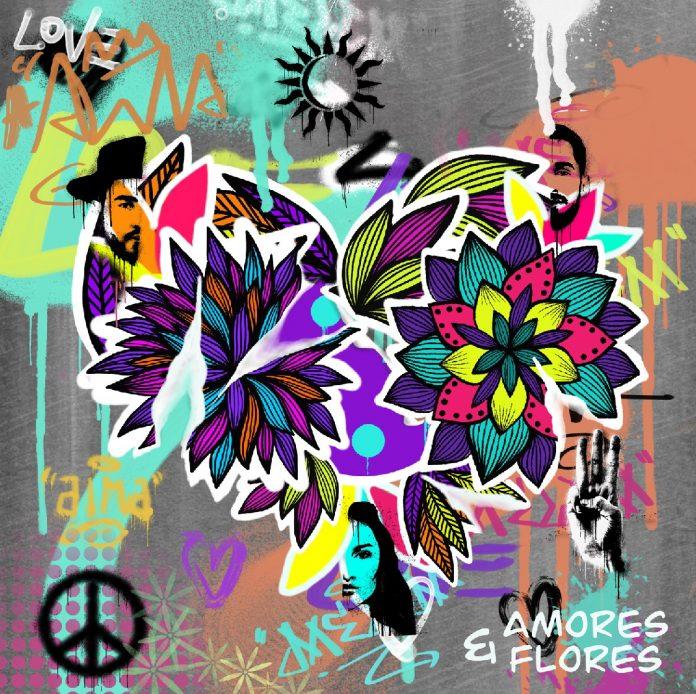 """Capa de """"Amores e Flores"""" (Melim)"""