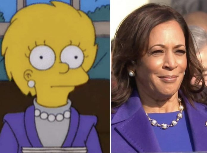 Kamala Harris e Lisa Simpson