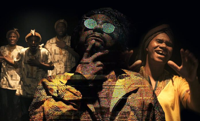 Afrodizia e Chico César com Young Mbazo no clipe de