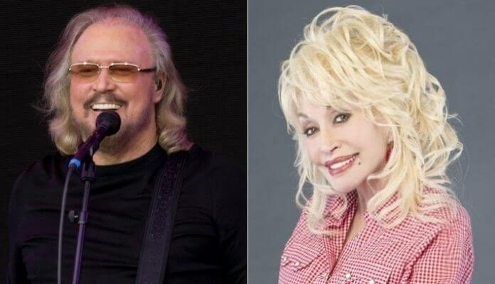 Barry Gibb (Bee Gees) e Dolly Parton