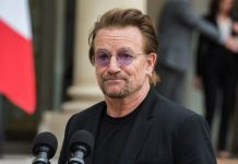 Bono (U2) em Paris, 2017
