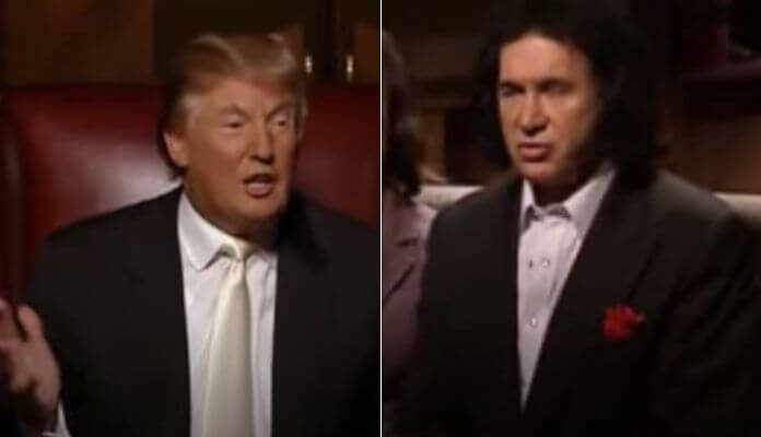 Donald Trump e Gene Simmons