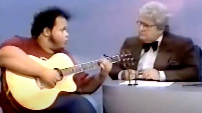 Ed Motta no programa de Jô Soares em 1990
