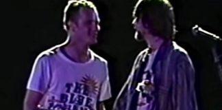 Flea e Kurt Cobain no Brasil