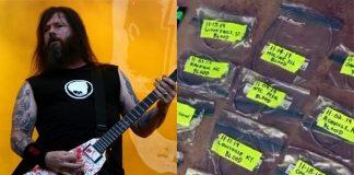 Ferreiro cria faca com cordas da guitarra de Gary Holt