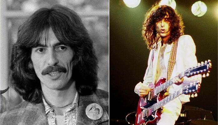 George Harrison e Jimmy Page