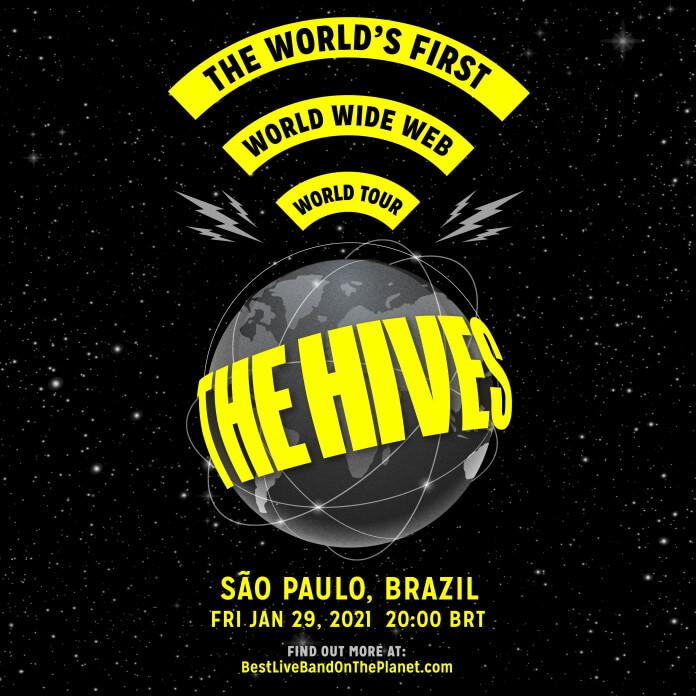 Cartaz da live do The Hives