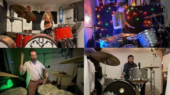 Indie Drummer Collective celebra posse de Biden com cover de