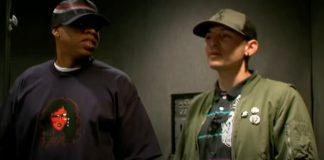 Jay-Z encontrando o Linkin Park pela primeira vez