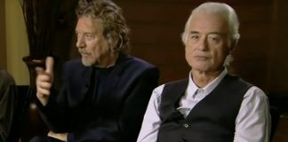 Jimmy Page reagindo a Robert Plant