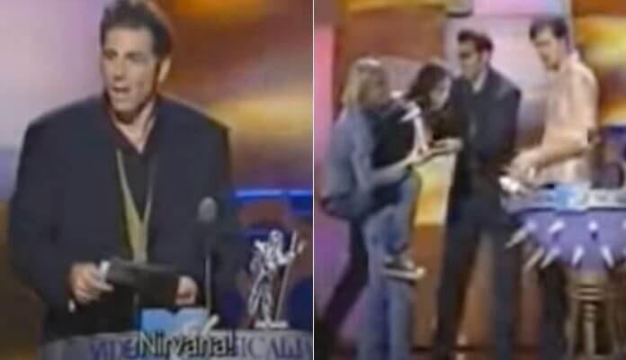 Kramer entrega prêmio para o Nirvana no MTV VMA