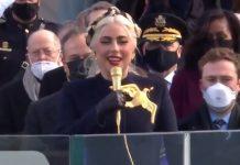 Lady Gaga canta o Hino dos EUA na posse de Joe Biden