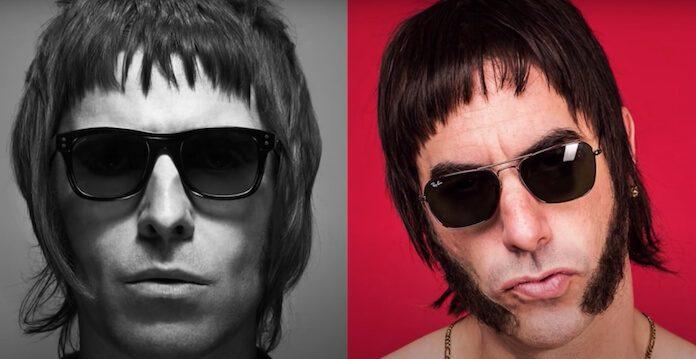 Liam Gallagher e Sacha Baron Cohen